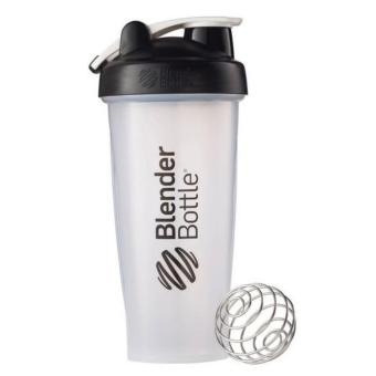 Blender Bottle Classic Loop Top Shaker Bottle, Clear Black, 28Ounce