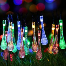 Buy sell cheapest outdoor solar string best quality product deals comfkey solar outdoor string lights water drop fairy waterproof solar christmas led lights solar powered aloadofball Gallery