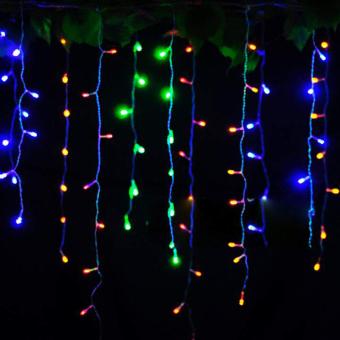 String Lights No Plug : Cyber 3.5m Droop EU Plug Curtain Icicle String Lights 220V New Year Christmas LED Lights Garden ...