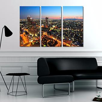 Easy Art Triptych 3-piece Tokyo City Premium Canvas Art