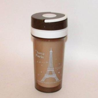 Eiffel Tower water bottle insulation drink bottle portable bottleshaker bottle 400ml protein cup tumbler with handle