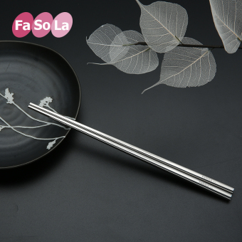 Fasola metal home square non-slip stainless steel chopsticks