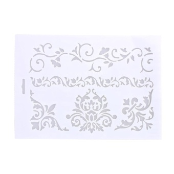 Flower Vine Cake Stencil Fondant Candy Template Buttercream Spray Mould DIY - intl
