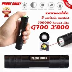 G700 X800 2000 LM 3 Mode CREE Chips XM-L Q5 LED 18650 Flashlight Focus