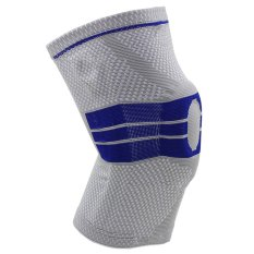 PHP 1.003. Grey Elastic Knee Support Brace Kneepad Adjustable Patella Knee Pads Basketball Safety Guard Strap Protector ...