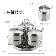 High-grade stainless steel seasoning salt shaker seasoning containers