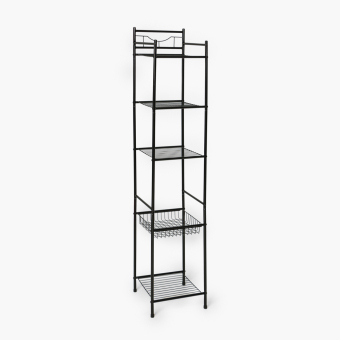 Home@Home 5-tier Tower Shelf (Black)