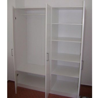 Ikea dombas 3 door wardrobe white lazada ph for Ikea guardaroba dombas