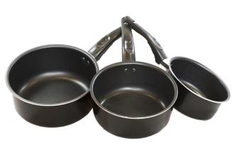 Ikea kavalkad casserole pots set of 3 black lazada ph for Kitchen set toys r us philippines