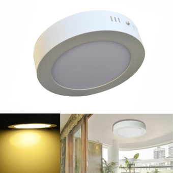 Jiawen LED Panel Light 12W warm white Surface Mounted LED Ceiling Lights AC90-265V Round LED Downlight - intl