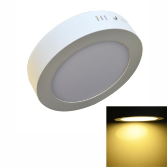 Jiawen LED Panel Light 6W warm white Surface Mounted LED Ceiling Lights AC90-265V Round LED Downlight - intl