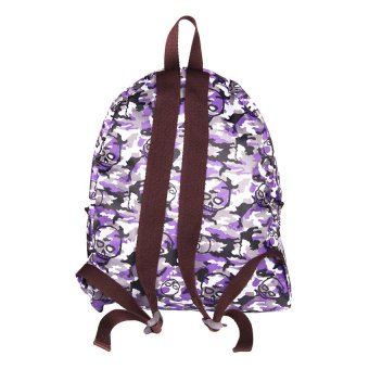 Le Organize Foldable Skull Backpack (Purple) - picture 2