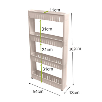Plastic three layer home to-shower room storage management arm shelf