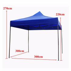 Primetime Foldable Retractable 3m X 3m Popup Tent Canopy Rainproof Gazebo  (Blue)