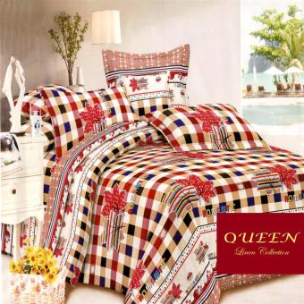 Queen Classic Linen Collection Fitted Bedsheet Set of 3(AOIE-061)