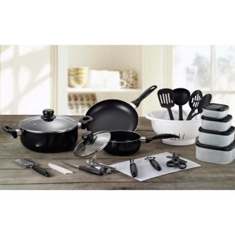 Slique 25pcs aluminum kitchen sets black lazada ph for Kitchen set lazada