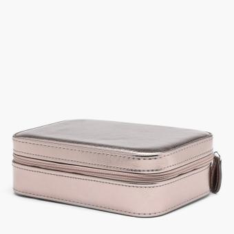 SM Accessories Ladies Zip-Around Jewelry Box (Bronze)