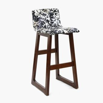 SM Home Emeril Bar Chair (Pixelated black and white)