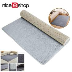 SOBUY Velvet Indoor Morden Area Rugs Pads Living Room Bedroom Floor Carpet Silver And Gray