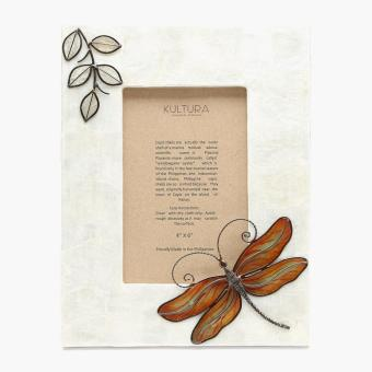 Tahanan By Kultura Capiz Dragonfly Picture Frame (4x6)