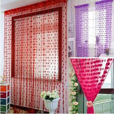 Tassel Line Heart String Drape Curtain Home Decor