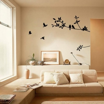 Tree Branch Black Bird Art Wall Stickers Removable Vinyl Decal HomeBK - intl & Price List New 2pcs 45x200cm Dry Erase Removable Whiteboard Wall ...