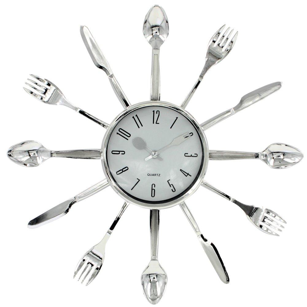 wallmark kitchen wall clock (silver) | lazada ph