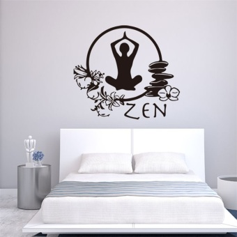 Zen Yoga living room bedroom children's room wall sticker