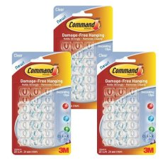 3m command decorating clips bundled of 3 clear