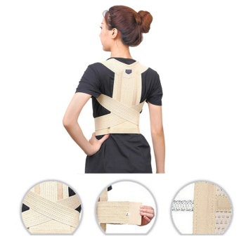 Adjustable Back Support Posture Corrector Magnetic Brace Shoulder Band Belt Size M - intl