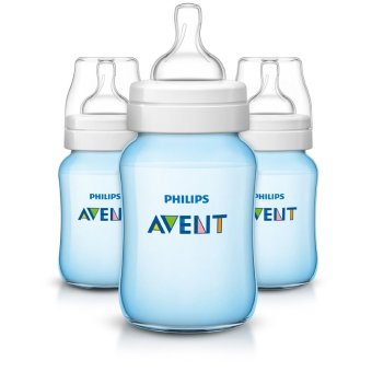 AVENT Classic BPA Free Bottles 9 Oz Pack of 3 (Blue)