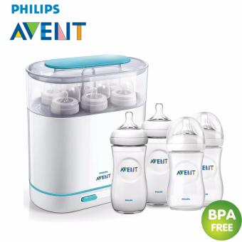 Avent sterilizer + Baby-Z Philips Avent Natural Feeding Bottle 260ML (Set2) + Baby-Z Philips Avent Natural Feeding Bottle 330ml(Set2)