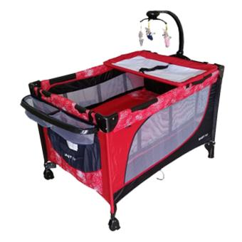 Baby 1st Crib Playpen P-510DCR, (RED)