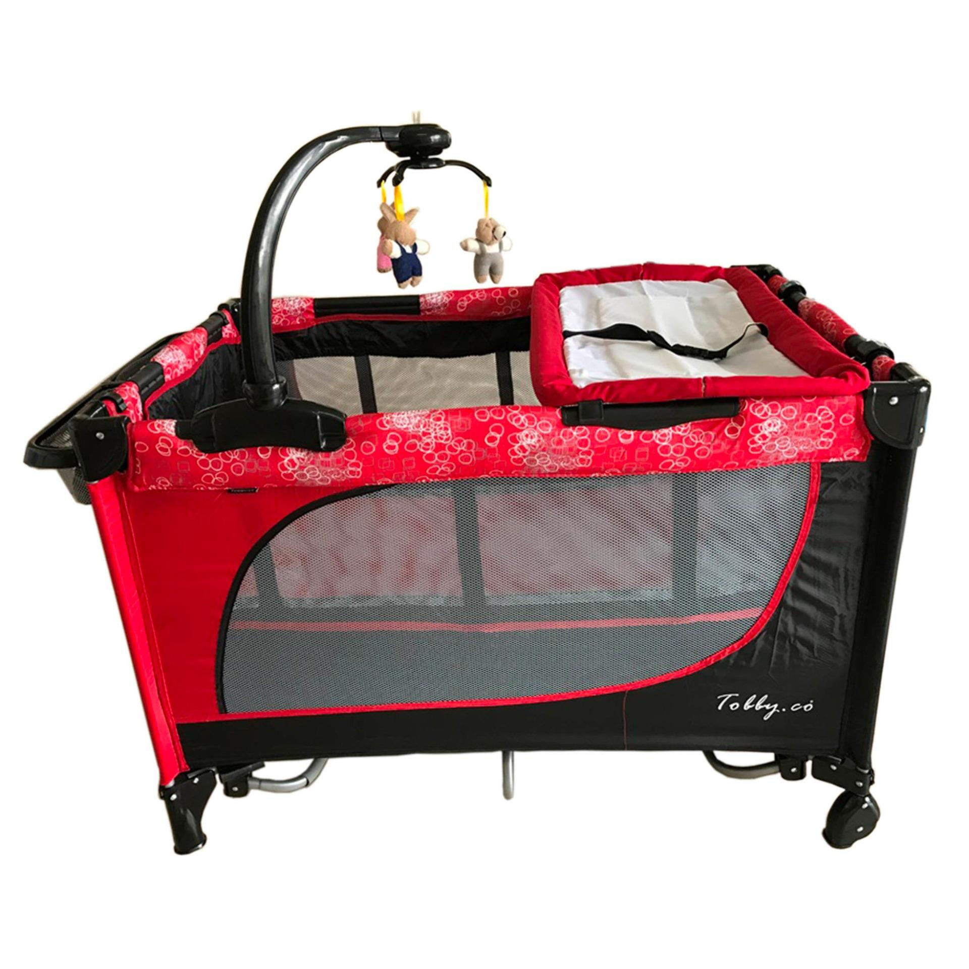 Crib for sale in pampanga - Baby 1st Playpen Crib Tobby Co With Accessories Red Black Lazada Ph