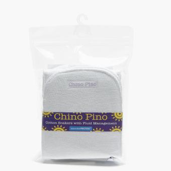 Chino Pino 3-Piece Cotton Diaper Soakers (White)