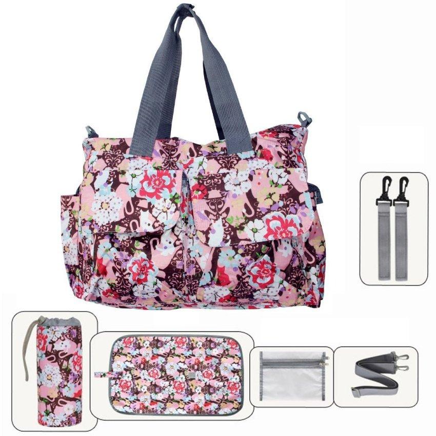 diaper bags designer cheap e2w3  Floral Designer Baby Diaper Tote Bags 6 Pieces