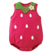 Kids Infant Baby Toddler Cartoon Cotton Sleeveless Triangle Suit Romper Jumpsuit Climb Jumpsuit for 7-12 months Strawberry Size M