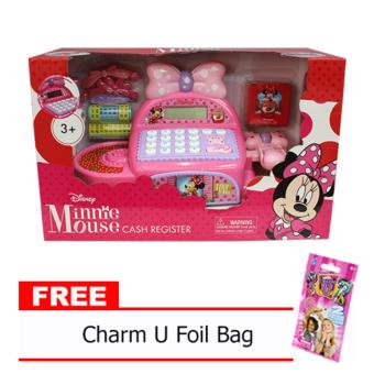 Minnie Mouse Cash Register with Free Charm U Foil Bag