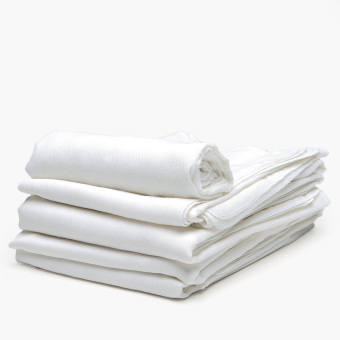 Minnies' & Mimi 12-Piece Bird's Eye Cloth Diaper Set (White)