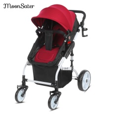 Moonsater Universal Casters Foldable Pram Baby Stroller Cart With Brake System Intl