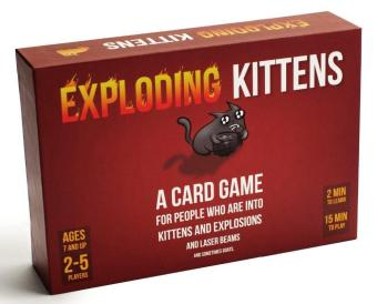 Red Children and Adult Edition Exploding Cards Game ExplosionOriginal Exploding Kittens for Imploding Cards Board Game - intl