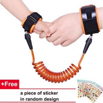 Safety Wrist Leash Walking Baby Anti-lost Hand Belt (2.5M Yellow)