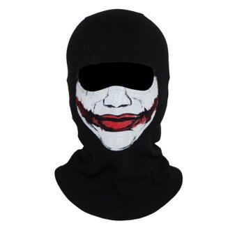 The Joker Mask Balaclava Face Ghost Skull Hood Halloween skateboardCosplay