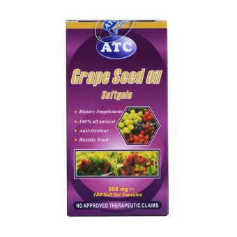 ATC Grape Seed 500mg Soft Gels 100's