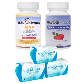BeauOxi White MAX 12in1 Glutathione and BeauOxi White Vitamin CCombo Set