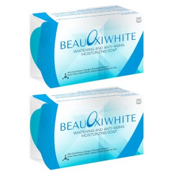 BeauOxi White Whitening Anti-aging and Moisturizing Soap 120mg(Pack of 2)
