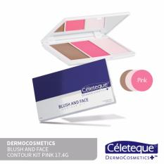 Céleteque Dermocosmetics Blush and Face Contour Kit 17.4g (Pink) Philippines