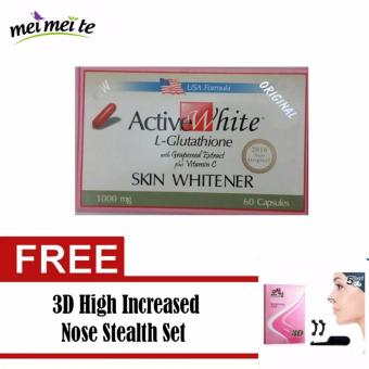 ACTIVE WHITE L-GLUTATHIONE (US-Based Formula) with FREE Nose Stealth Set