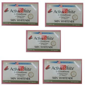 ACTIVE WHITE L-GLUTATHIONE (US-Based Formula) 60 Capsules Set 5