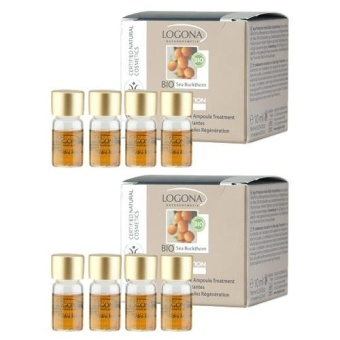 2 x LOGONA Age Protection Hydro Active Ampoule Treatment 4 x 0.1oz, 4 x 2.5 ml - intl